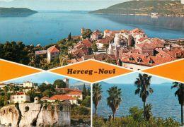 Herceg Novi, Montenegro Postcard Used Posted To UK 1974 Stamp - Montenegro