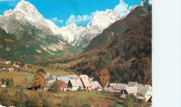 Log Pod Mangartom, Slovenia Postcard Used Posted To UK 1980s Stamp - Slovenia