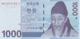 South Korea Bank Of Korea 1000 Won UNC 1 Piece Flower Famous - Korea, South