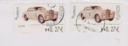 ESPAGNE, Voiture Ancienne (x 2)  Sur Lettre - Voitures