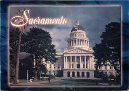 Sacramento State Capitol, California, United States USA US Postcard Used Posted To UK 1999 Stamp - Etats-Unis