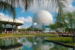 Epcot Center, Disneyworld, Florida, USA Postcard Used Posted To UK 1984 Stamp - Disneyworld