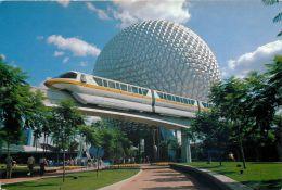 Epcot Center, Disneyworld, Florida, USA Postcard Used Posted To UK 1995 Stamp - Disneyworld