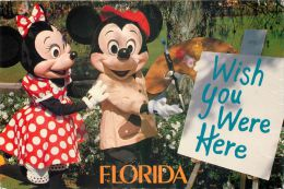 Mickey & Minnie, Disneyworld, Florida, USA Postcard Used Posted To UK 1993 Stamp - Disneyworld