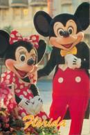 Mickey & Minnie, Disneyworld, Florida, USA Postcard Used Posted To UK 1992 Stamp - Disneyworld