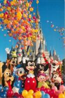 Mickey Mouse Etc, Disneyworld, Florida, USA Postcard Used Posted To UK 1994 Stamp - Disneyworld