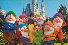Snow White And Seven Dwarves, Disneyworld, Florida, USA Postcard Used Posted To UK 1993 Stamp - Disneyworld