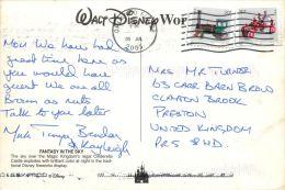 Fireworks, Disneyworld, Florida, USA Postcard Used Posted To UK 2005 Nice Stamp #2 - Disneyworld
