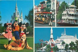 Disneyworld, Florida, USA Postcard Used Posted To UK 1989 Stamp #2 - Disneyworld