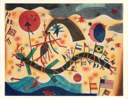 Alejandro Xul Solar - Mundo 1925 Art Painting, USA Postcard Used Posted To UK 1991 Meter - Paintings