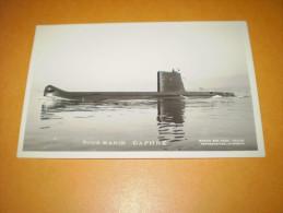 Carte Photo Sous Marin Daphné - Submarines