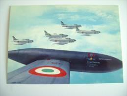 AERONAUTICA MILITARE ITALIANA  FIAT NORTH-AMERICAN F 86 K  NON VIAGGIATA   PERFETTA  AEREO AIRPLANE - 1946-....: Moderne