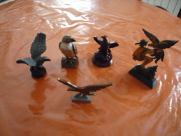 Lot  D' Aigles De Collections En Résine Et Bois - Oiseaux