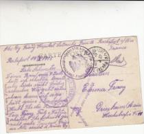 Soldat Allemand Ecrivant De L'hopital Latouche Freville A Rochefort Sur Mer - WW I