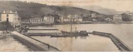 CPA DOUBLE Format 11 X 28 Cms BANYULS Vue Générale De L'Aquarium Et Du Bassin D'Expérience 1907 - Banyuls Sur Mer