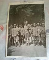 PRIGIONIERI BAVARESI PRESI SUL MONTE CROCE CARNICO 1915  RITAGLIO DI GIORNALE - Immagine Tagliata