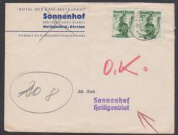 Österreich 1948: Geschäftsbrief Klagenfurt-Heiligenblut V. 4.4.1948 Mit Trachten (siehe Foto/ Scan) - 1945-.... 2a Repubblica