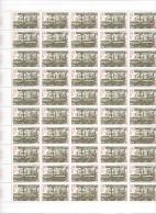 1957  - Conseil économique -  Feuille Complète De 50 Exemplaires ** - Fogli Completi