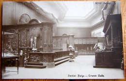 Cpa PARIS VIII - Petit Palais - 1916 - Section Belge - Grande Salle - Arrondissement: 08