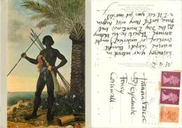 Fetu State Warrior, Painting By A Eckhout, Ghana Postcard Used Posted To UK 1982 Gb Stamp - Ghana - Gold Coast