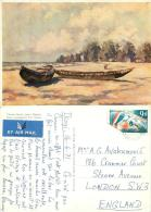 Victoria Beach, Lagos, Nigeria Postcard Used Posted To UK 1971 Nice Stamp - Nigeria