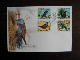 WWF Lithuania 2008 European Roller  (birds) - LOCAL FDC Stamps Serie - FDC