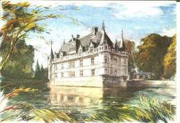 CP - CHATEAU D´AZAY LE RIDEAU - COLORIMA - 297 - - Azay-le-Rideau