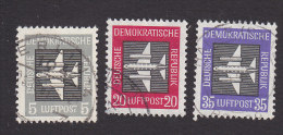 DDR, Scott #C1-C3, Used, Airmails With Stylized Planes, Issued 1957 - [6] Democratic Republic