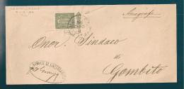 STORIA POSTALE PIEGO DA CASTELLEONE DEL 6-12-1888 - 1861-78 Victor Emmanuel II