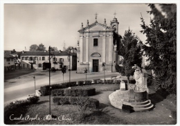 CASALE POPOLO - PIAZZA CHIESA - CASALE MONFERRATO - ALESSANDRIA - 1956 - Alessandria