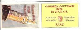 68 - Kingersheim - Carnet Privé Congrès D´automne 2005 - Carnets