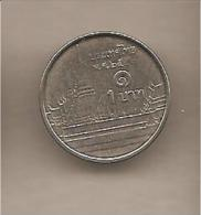 Thailandia - Moneta Circolata Da 1 Baht - 2009/2017 - Tailandia
