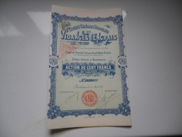 BORDELAISE DE VIDANGES ET ENGRAIS (1901) Bordeaux-gironde - Aandelen