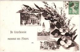 92 De  Courbevoie , Recevez Ces Fleurs - Courbevoie
