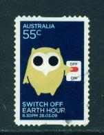 AUSTRALIA  -  2009  Earth Hour  55c  Self Adhesive  Used As Scan - 2000-09 Elizabeth II