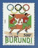 bur0801 Burundi 2008 Olympic Beijing Flag