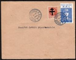 FRANCE - Région Parisienne - Enveloppe Avec Vignette De Gaulle - Liberation