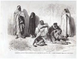 GRAVURE D Epoque  1864  LION CAPTIF ALGER ALGERIE - Unclassified