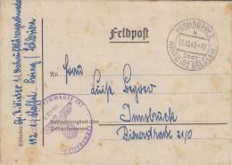 Deutsches Reich(V288)Feldpost-Brief Vom 13.10.43 - Von Hermsdorf Nach Innsbruck - Deutschland