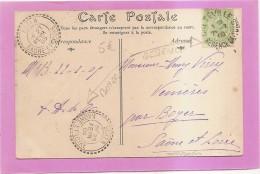 CPA TUNISIE CHAMEAUX A LA SEGUIA - CACHETS BOYER SAONE ET LOIRE - TIMBRE CRETEVILLE  - état Voir Descriptif - Tunisie (1956-...)