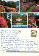 Villa Carlotta, Lago Di Como, Italy Italia Postcard Used Posted To UK 1990s Stamp - Como