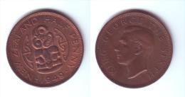 New Zealand 1/2 Penny 1949 - Nouvelle-Zélande