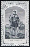 Heilige Bilder ANDACHTSBILDER DEVOTION IMAGES SANTINI SPITZE LACE SV.LEOPOLD ,TOP ZUSTAND - Andachtsbilder