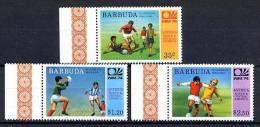 BARBUDA 1974, COUPE MONDE FOOTBALL MUNICH 1974, 3 Valeurs, NEUFS. R135 - Coppa Del Mondo