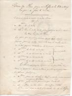 Droits De Place De Marché Perçus Par La Ville De Crouy/Ourcq (77), 1811 - Documents Historiques