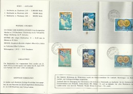 GREECE 1972 - FIRST DAY PRESENTATION LEAFLET- 5 YEARS AFTER REVOLUTION -GERMAN TEXT W 3 STS OF 2,50-4,50-5 DR + SPECIMEN - Cartes-maximum (CM)