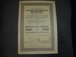 """Aandeel""""Cultuur Maatschappij Melangbong""""Amsterdam 1923 - Landbouw"""