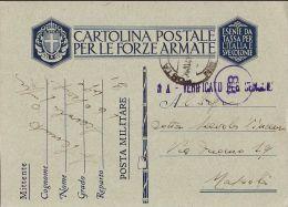 FRANCHIGIA WWII POSTA MILITARE 31 1941 VILLAGGIO D'ANNUNZIO TRIPOLITANIA - 1900-44 Vittorio Emanuele III