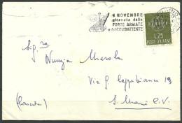 29/11/1959 - REPUBBLICA ITALIANA - LETTERA - EUROPA 25 LIRE ISOLATO - ANNULLO DI PROPAGANDA - SPL - 1946-60: Storia Postale