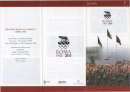 OLYMPIC GAMES - ITALIA - ROMA 1960 / 2010 - DEPLIANT PERCORSO MUSEALE OLIMPICO ROMA 1960 - Giochi Olimpici